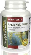 Algas Kelp 1000mg | 120 cápsulas (E639) Simply Supplements