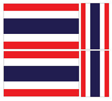 4 X THAI THAILAND FLAG VINYL CAR VAN IPAD LAPTOP STICKER