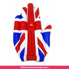 """50cm 19"""" Union Jack Inflatable Hand Olympics Queens 90th Birthday Party UK Flag"""