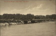 Onset Cape Cod MA Dummy Bridge on East River c1910 Postcard