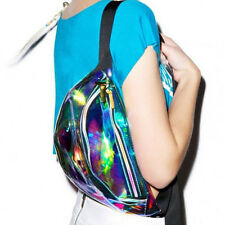 Punk Lady Girl Retro Rainbow Transparent Fanny Pack Bum Women Purse Waist Bag TO