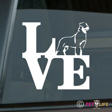 Love Rottweiler Sticker Die Cut Vinyl - Rotty Rott Rottie Park