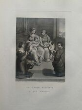 F. ROSASPINA  SACRA FAMIGLIA E DUE RITRATTI ACCADEMIA BOLOGNA acquaforte 1830