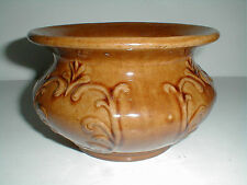 Medalta Medicine Hat Alberta Canadian Art Pottery Brown Flowers Vines Spittoon
