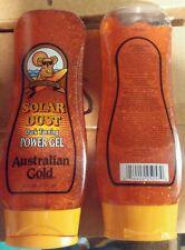 Lot of 3 Australian Gold Solar Dust Indoor/Outdoor Dark Tanning Power Gel * NEW
