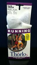 THORLOs XJ-9 Crew Running Socks Size 13-4 Youth, 4-6 Women White THORLO Small