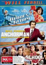 BLADES OF GLORY/ANCHORMAN/OLD SCHOOL (UNCUT) (3DVD Movie) Region: 4