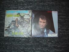 lot johnny hallyday / johnny rider / aimer vivre / 45 tours