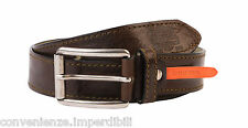 Marville Vintage Canadian Cintura in pelle marrone
