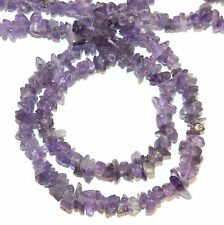 GC123h Amethyst Mini to Small 4mm-6mm Polished Gemstone Chip Beads 35""