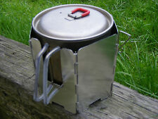 Combined Windscreen and Pot Rest for meths alcohol stove to fit MSR Titan Kettle