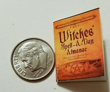 Miniature dollhouse Halloween witch spell book Barbie 1/12 Scale   Haunted alman