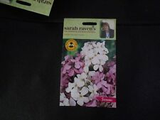 Flowers Sarah Raven's Sweet Rocket 'Mixed ' Sealed 750 seed Packet Sow By 2019