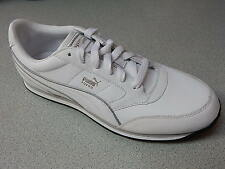 PUMA  FUEGO L II  LEATHER ATHLETIC SHOES  white  MEN  SIZE 8.5 med  Euro 41
