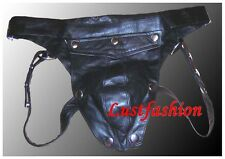 Slip en Cuir Pantalon Slip gay leather Jock strap String Jockstrap new Leder XL