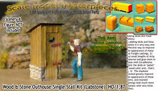 Wood & Stone Outhouse-Single Stall Kit Scale Model Masterpieces/Yorke HOn3/HOn30
