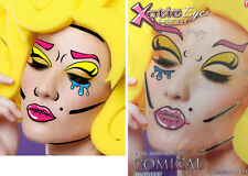 Easy Comic Book Lichtenstein Pop Art Sticker Eye Makeup Face Mask Costume Set