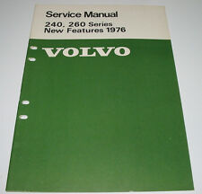 Service Manual Volvo 240 / 260 New Features Engine Electrical Power Transmission