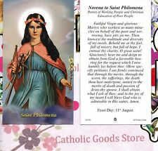 St. Philomena with Novena to Saint Philomena  - Paperstock Holy Card