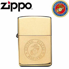 Genuine Zippo Lighter Licenced US Marine Corps Limited Edition Solid Brass