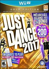 NEW Just Dance 2017: Gold Edition (Nintendo Wii U, 2016)