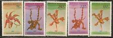 INDONESIA 1980 FLOWERS ORCHIDE SC # 1107-1110ab MNH