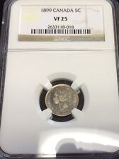 1899 5C Canada 5 Cents NGC Vf 25