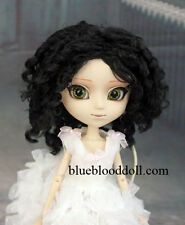 "1/3 bjd 9-10"" doll black color curly wig Pullip Taeyang Soom ID W-194XL"