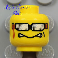 NEW Lego Snowboard Goggles MINIFIG HEAD - Snow Race Skate Board Boy Sun Glasses