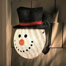SALE Snowman Porch Light Cover Outdoor Christmas Winter Holiday Yard Decoration