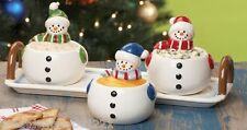 Snowman Condiment Set and Serving Tray Holidays Decor Winter Dinner Festive NEW