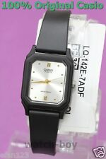 LQ-142E-7A Black Glod Silver Casio Watch Plastic Water Resist Analog New