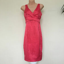 Jane Norman - Coral Pink Wiggle Pencil Bodycon Xmas/Party/Evening Dress Size 8