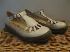 ivory GIRAUDON mary jane t-strap SHOES buckle size 38 PORTUGAL punk rock Lolita
