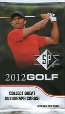 2012 Upper Deck SP Authentic Golf Trading Card Pack