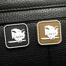 2 MINI METAL GEAR SOLID FOX HOUND PS3  3D TACTICAL ARMY MORALE PVC PATCH