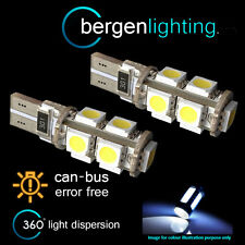 2X W5W T10 501 CANBUS ERROR FREE WHITE 9 LED NUMBER PLATE LIGHT BULBS NP101702