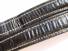 BREITLING XL BAND 22MM HAI SCHWARZ BLACK SHARK STRAP CORREA FÜR FALTSCHLIESSE 11