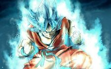 Poster A3 Dragon Ball Goku Super Saiyan God 01