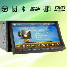 "Double 2 DIN In-Dash Car Deck DVD Player GPS Navigation 7"" HD Touch Screen"