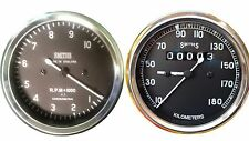 Motorcycle Speedometer 180 kph + Tachometer 10 K 4:1 Replica Smith- 80mm M18X1.5