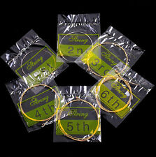NEW Set of 6 Bronze Steel Strings For Acoustic Guitar 150XL/.010in