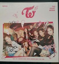 "TWICE - The Story Begins (1st Album) CD SIGNED All Members ""Like OOH AHH"" K-pop"