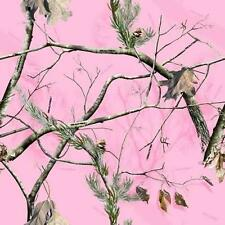 "Realtree Pink Camo air release wrapvinyl Decal GLOSS Finish NON laminated12""x12"""