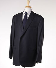 NWT $2995 OXXFORD 1220 Solid Dark Charcoal Gray Superfine Wool Suit US 50 L