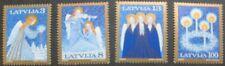 Christmas angels stamps, Latvia, 1994, Christmas wreath, SG ref: 412-415, MNH