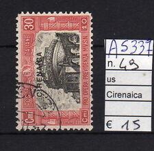 FRANCOBOLLI ITALIA COLONIE CIRENAICA USATI N°49 (A5337)