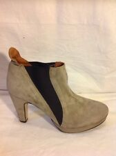 Top Shop Grey Ankle Suede Boots Size 40