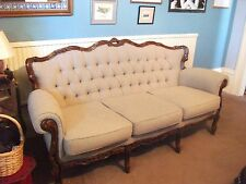 carved wood ornate reproduction 3 seat sofa