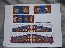 15mm Medieval Wars of the Roses Paper Flags Yorkist Edward IV